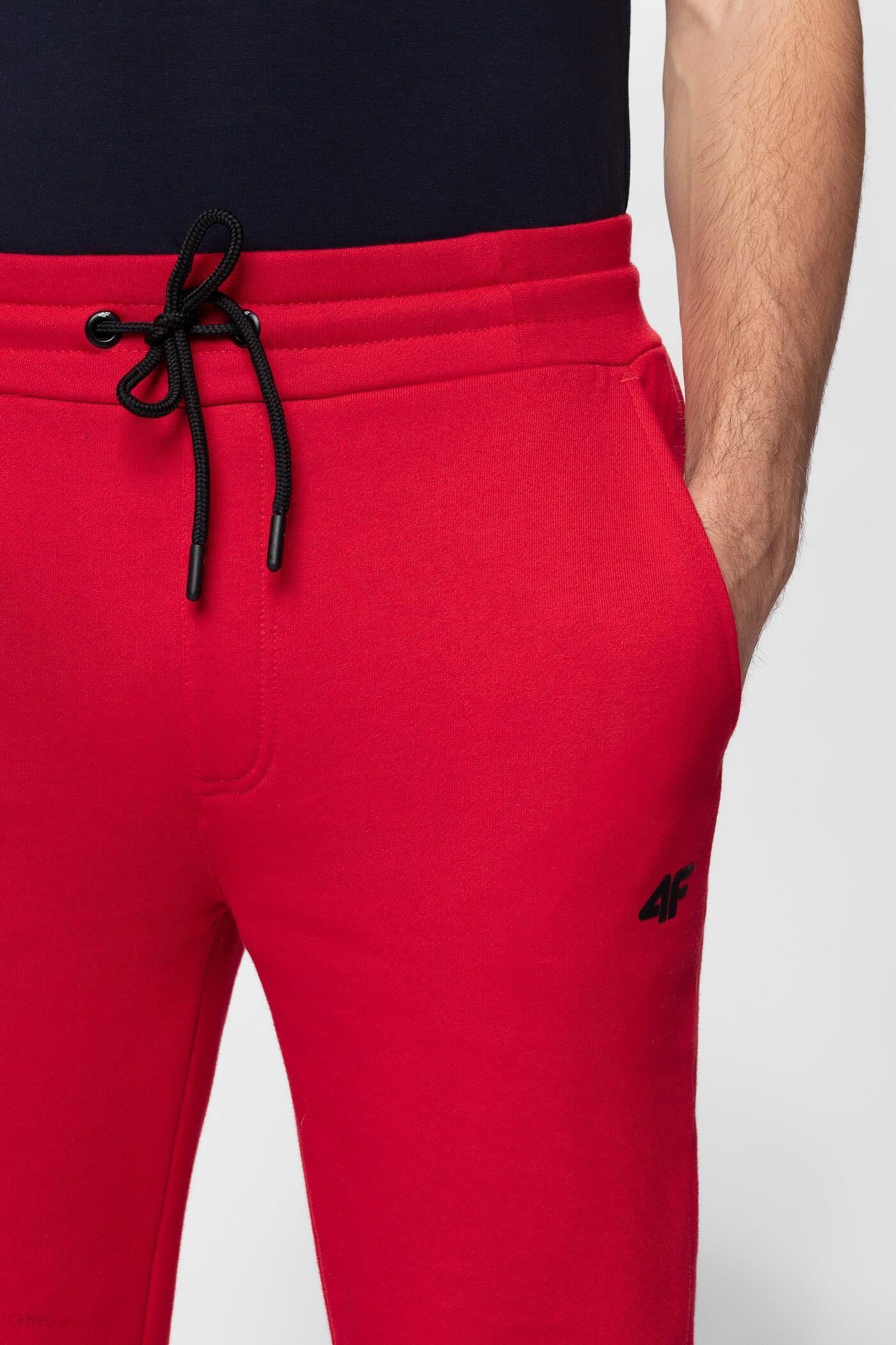 e4c85719d Spodnie dresowe męskie SPMD301 - czerwony - Ceny i opinie - Ceneo.pl