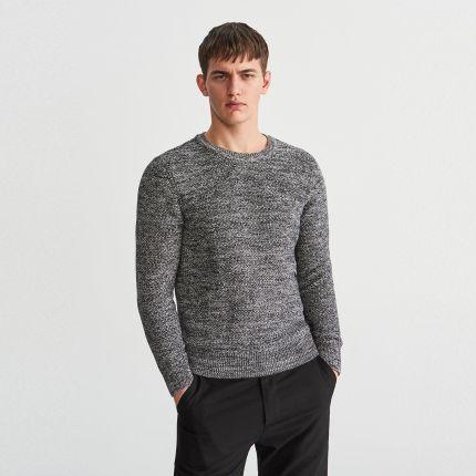 ab7d41b7a8ad Reserved - Sweter z bawełny organicznej - Szary ...