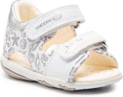 eda2bfd9 Sandały GEOX - B Sandal Nicely A B9238A 01054 C0007 M White/Silver eobuwie