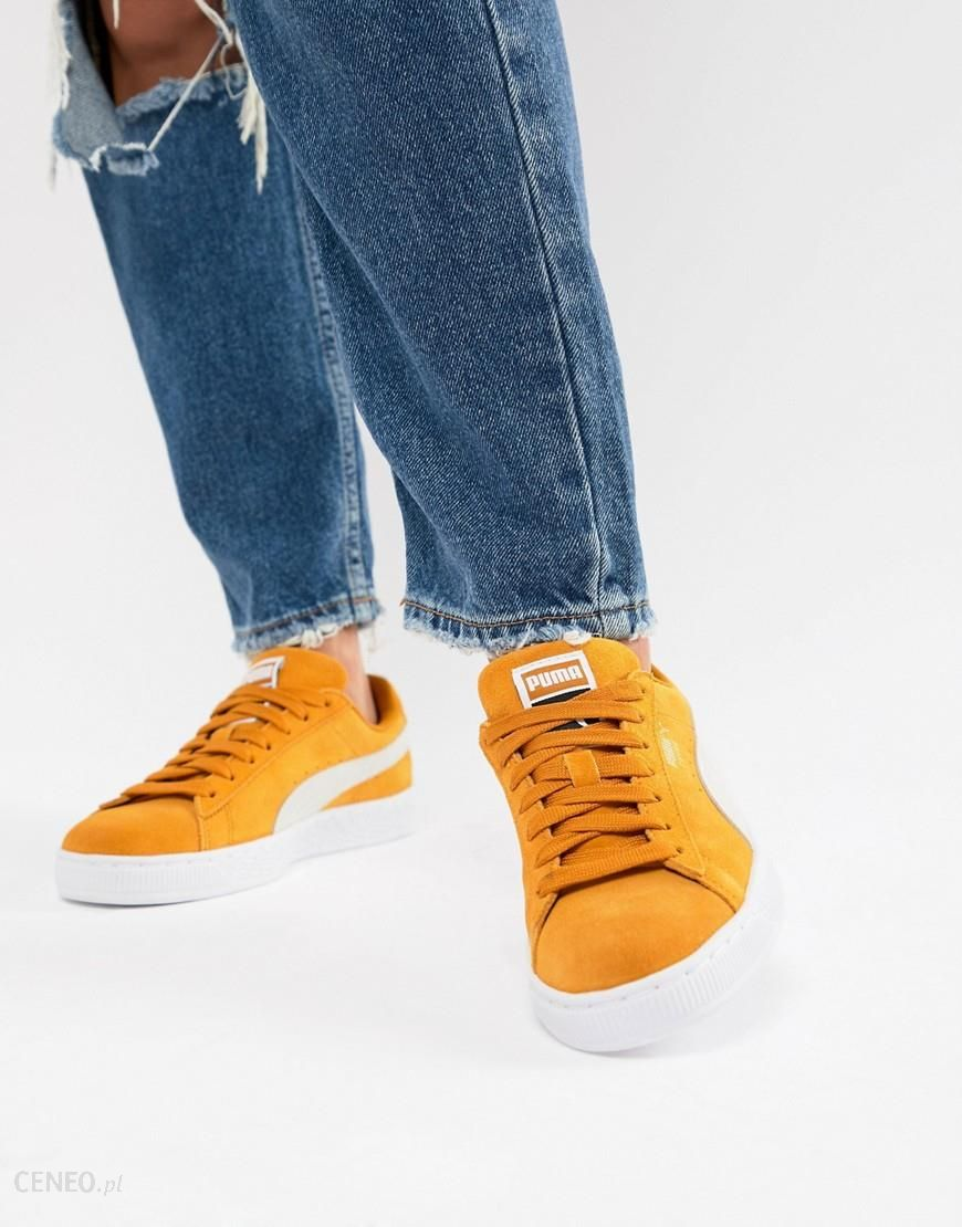Reebok Classic lEATHER Trainers IN Yellow sUEDE Yellow Ceneo.pl