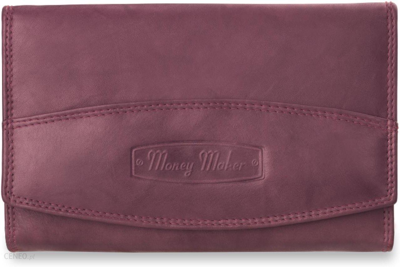 705295927558d Damski portfel money maker- niemiecki- 100% skóra - fioletowy - zdjęcie 1