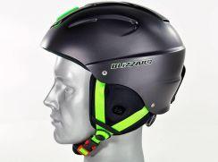 Blizzard Mega Ski Helmet Black Matt Lime 2019