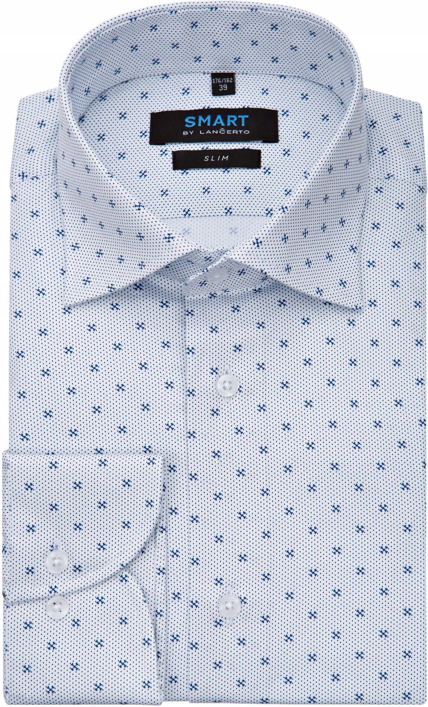 błękitna koszula męska belan classic