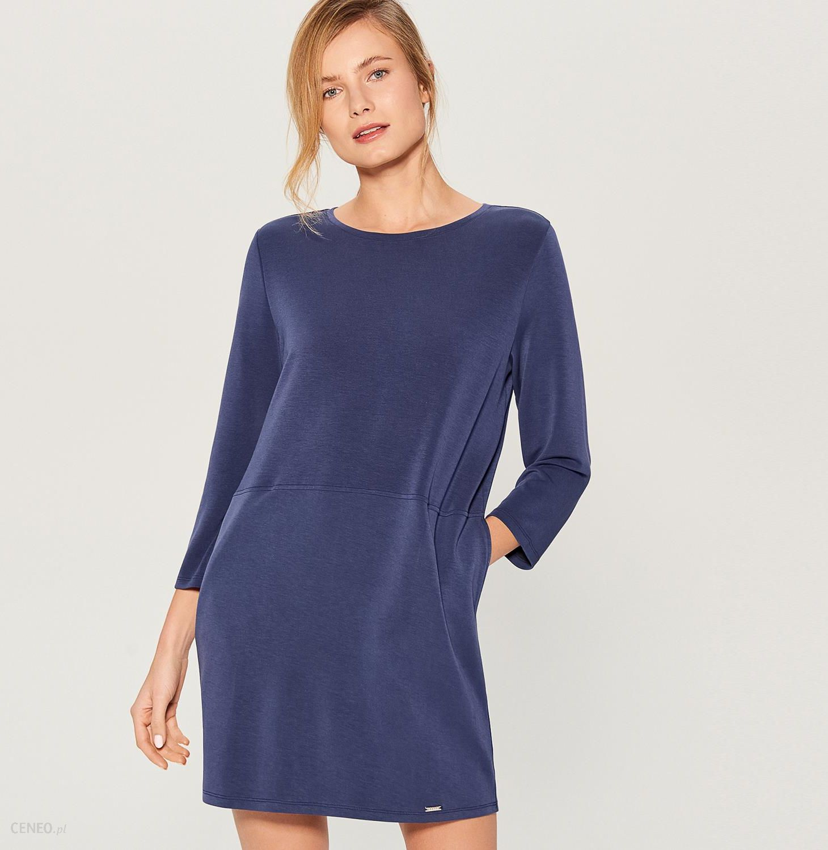 69930c65cf Mohito - Sukienka oversize z kieszeniami - Niebieski - Ceny i opinie ...