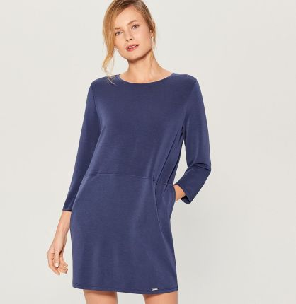 306269d444 Mohito - Sukienka oversize z kieszeniami - Niebieski Mohito