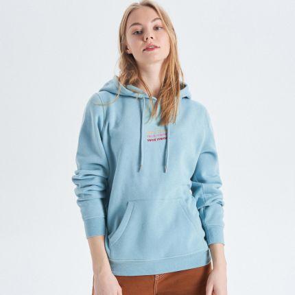 e64ae04c6bcb Cropp - Bluza hoodie z kapturem - Zielony ...