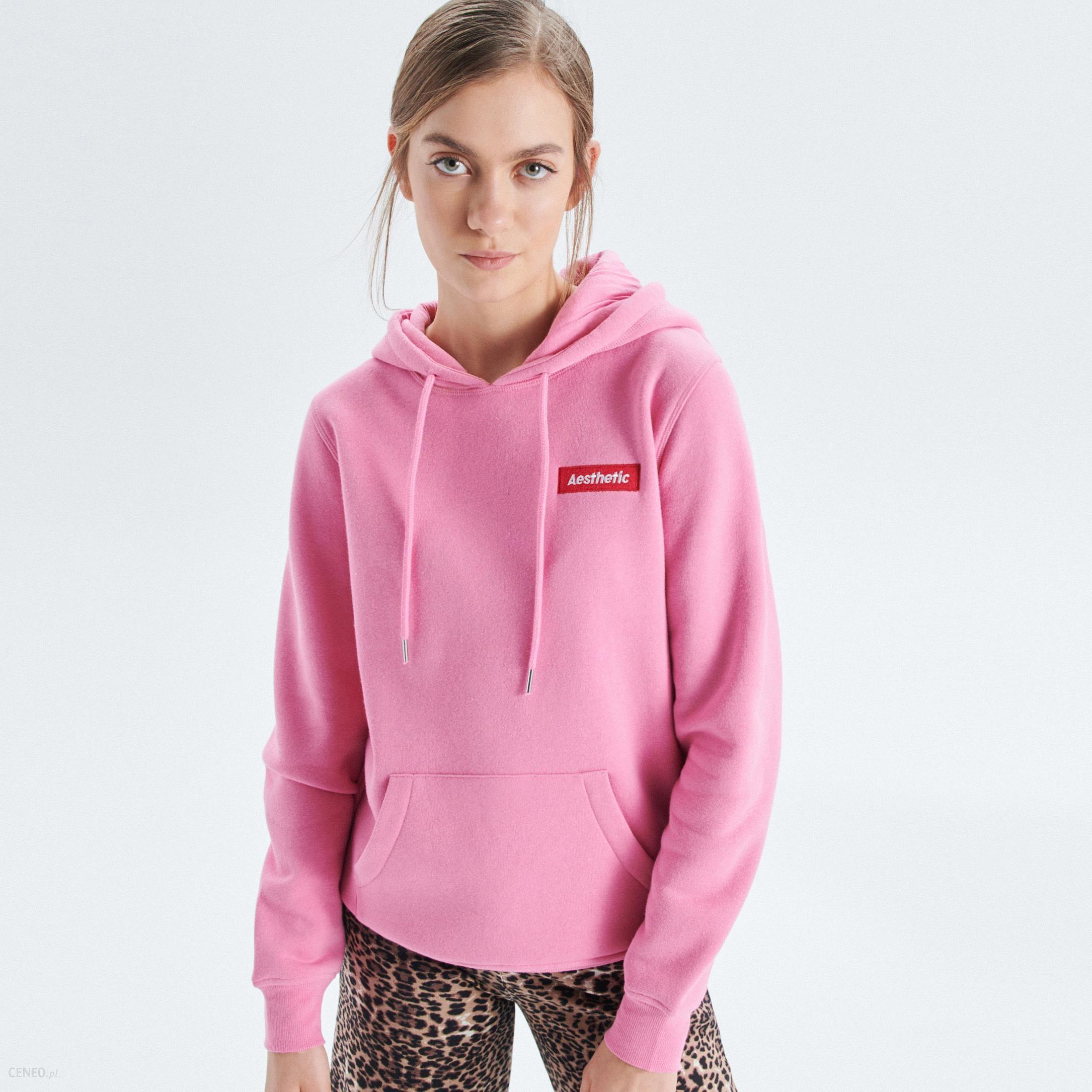 o rozsądnej cenie o rozsądnej cenie online tutaj Cropp - Bluza hoodie z kapturem - Różowy - Ceny i opinie - Ceneo.pl