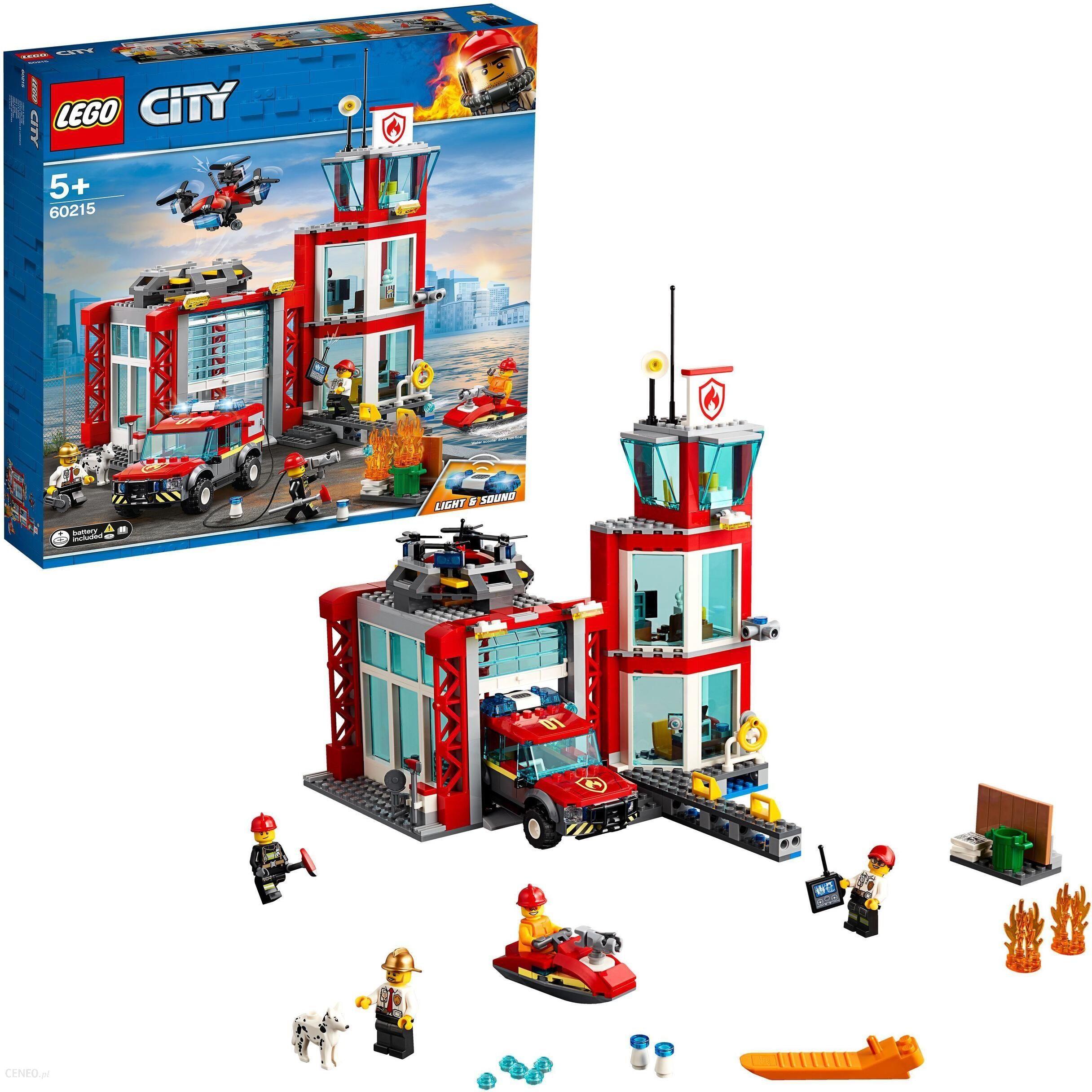 Klocki Lego City Remiza Strażacka 60215 Ceny I Opinie Ceneopl