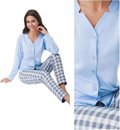aefa241f8b792e Piżama rozpinana LUNA 409 bawełna niebieski 3XL 46 - Ceny i opinie ...