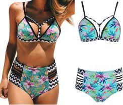 71c924eb0e2529 Wysoki Stan Bikini Strój Kąpielowy Boho Push Up/M Allegro