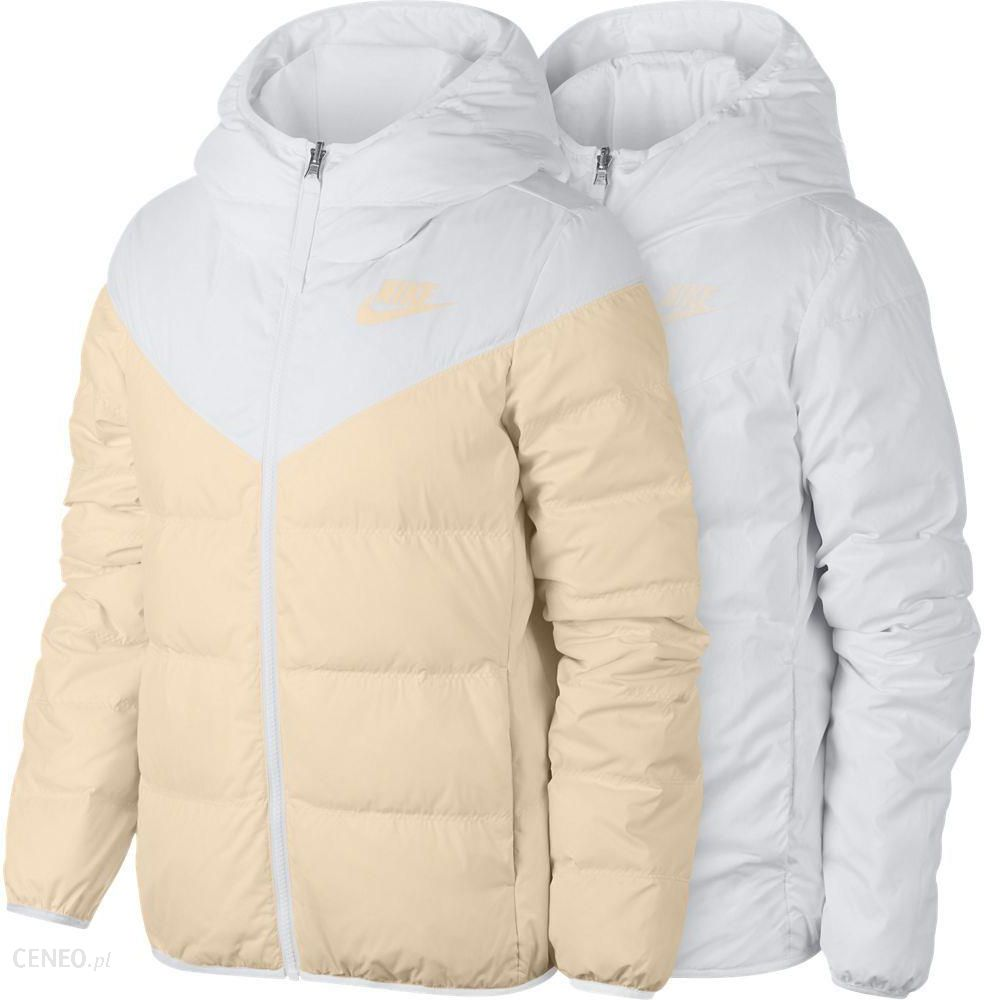 Nike Kurtka Puchowa Damska Sportswear Windrunner 2W1 BiałoKremowa 939438100