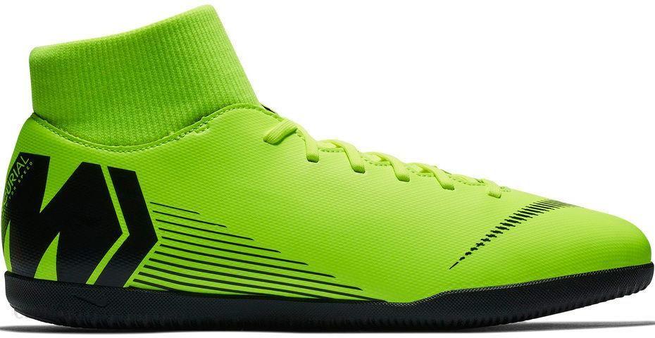 check out ec1d6 d59bb Nike Buty Piłkarskie Halowe Mercurial Superflyx VI Club Ic Limonkowe  Ah7371701 - zdjęcie 1