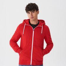 Rozpinana bluza z kapturem Czerwony