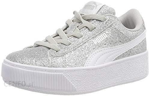 7e7a59201 Amazon PUMA dziewcząt Vikky Platform Glitz AC PS Sneaker - srebrny - 35 EU  - zdjęcie