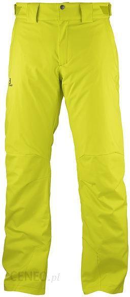 5d125b326c0e8b Salomon Spodnie Narciarskie Męskie Stormpunch Żółte L40443800 - zdjęcie 1