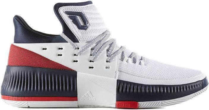 best cheap e762c 8ce8f Adidas Buty Koszykarskie Dame 3 Damian Lillard Biało Czarno Czerwone By3762  - zdjęcie 1