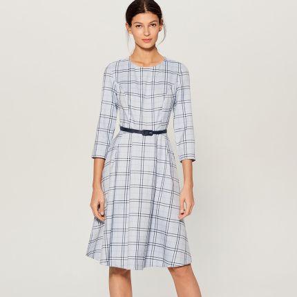 f1e5996c32 Mohito - Sukienka midi z paskiem - Niebieski Mohito