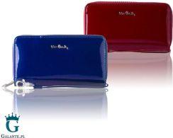 9d0c157a22e03 Duży portfel damski z dwiema kieszeniami zapinanymi na zamek