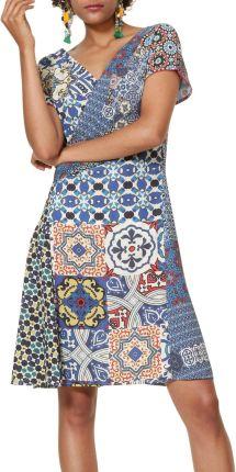 b1b7397c0c Desigual kolorowe sukienka Vest Saya - 38