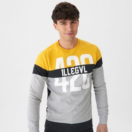 cccc8146da927 House - Kolorowa bluza z nadrukiem - Żółty ...