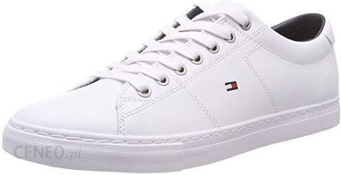 fd3946da24b61 Amazon Tommy Hilfiger Essential Leather buty sportowe męskie, kolor: biały  (White 100)