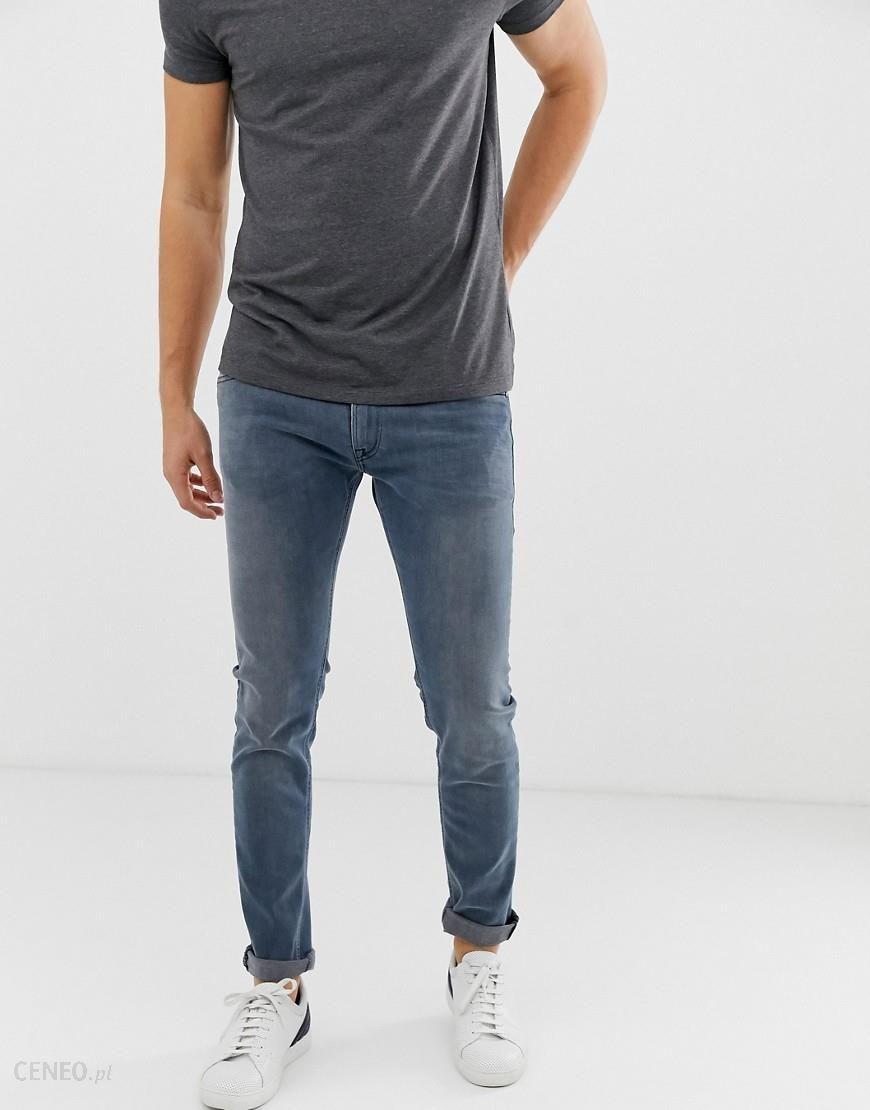 Replay Jondrill power stretch skinny jeans in blueblack Blue Ceneo.pl