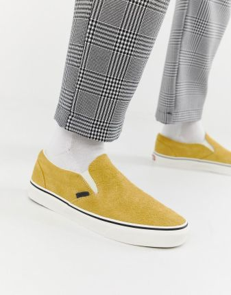 Vans Slip On hairy suede plimsolls in yellow VN0A38F7ULR1 Yellow Ceneo.pl