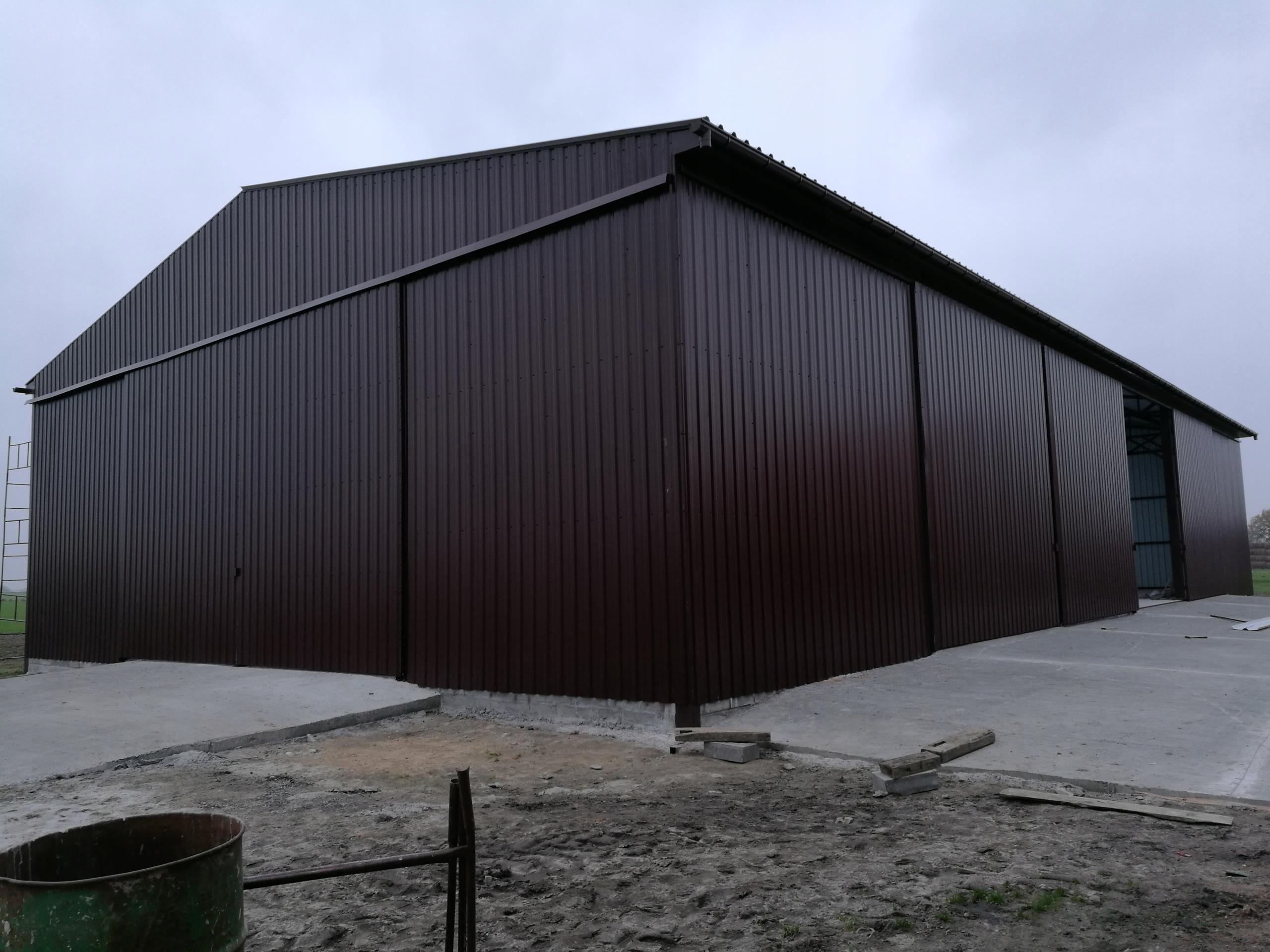 Garaż Blaszany Hala Magazynowa Konstrukcja Stalowa