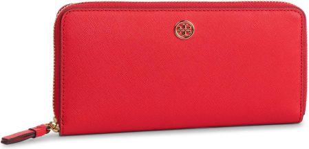 91bb018ff2c5c Duży Portfel Damski TORY BURCH - Robinson Zip Continental Wallet 52707  Brilliant Red 612 eobuwie