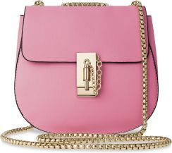 97ba7edc5aa9b Szykowna listonoszka z eleganckim łańcuszkiem wizytowa torebka damska –  różowy