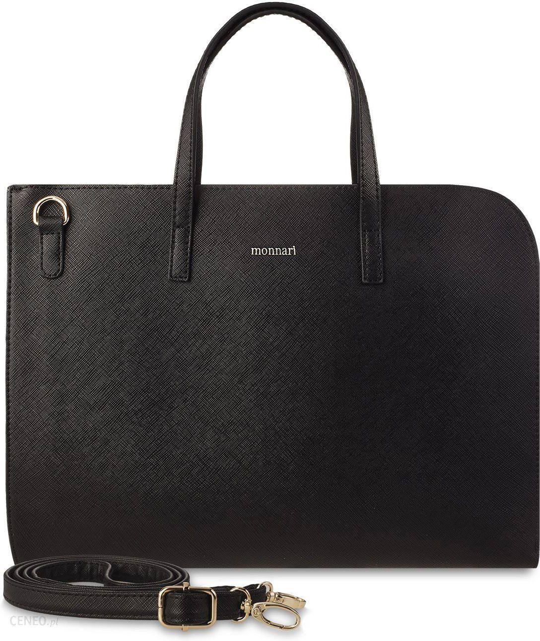 0f9b4741e3b10 Klasyczna aktówka monnari torba na laptopa torebka teczka na dokumenty -  czarny - zdjęcie 1