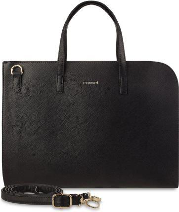 1203f704c5017 Klasyczna aktówka monnari torba na laptopa torebka teczka na dokumenty -  czarny