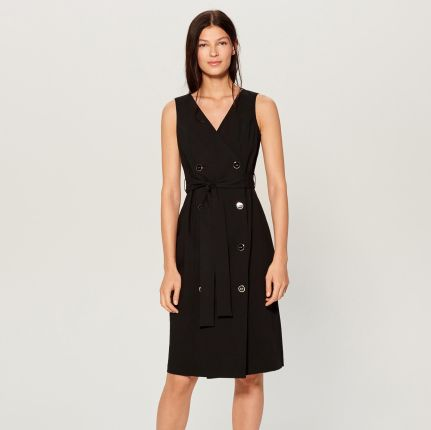 0a8ae8fb31 Mohito - Sukienka z dwurzędowym zapięciem - Czarny Mohito