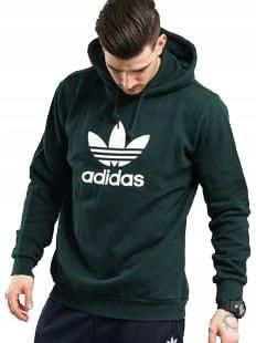 Bluza Adidas Originals Trefoil Bawełna Kaptur Ceny i