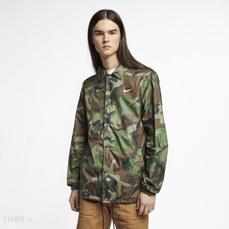 Męska bluza moro z kapturem i zamkiem na całej długości Nike Sportswear Club Khaki Ceny i opinie Ceneo.pl