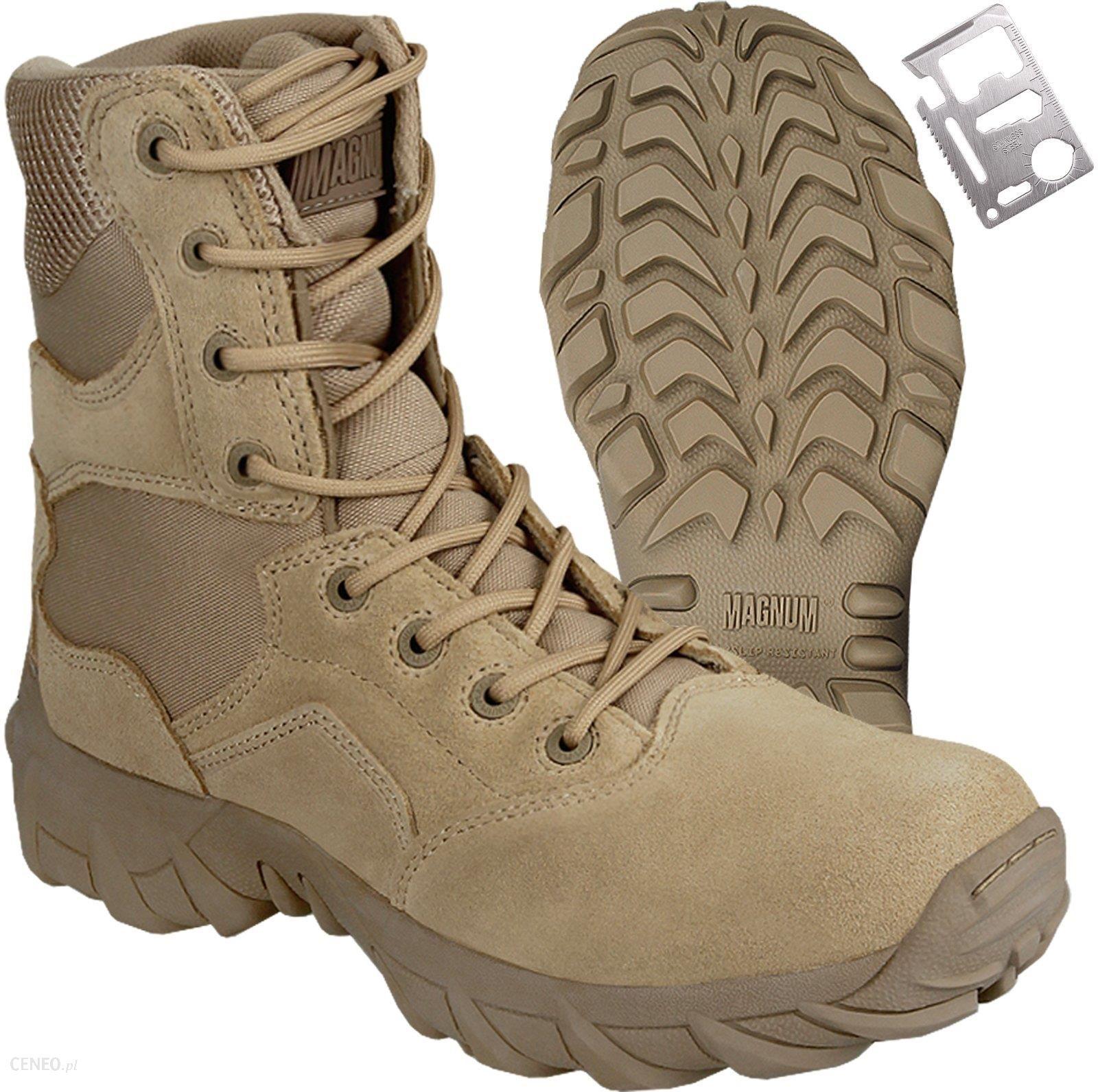 buty militarne męskie jasne