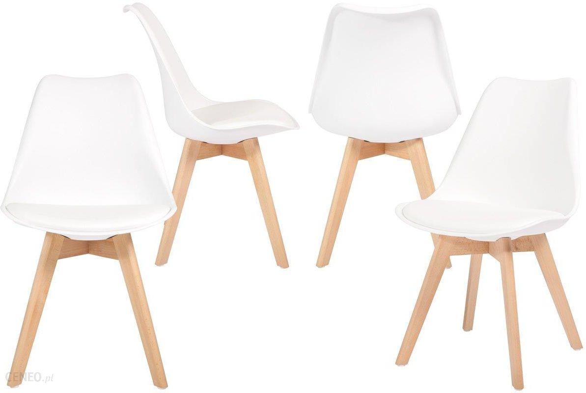 Edomatorpl Krzesło Do Jadalni Bolonia Białe 4 Szt Biały