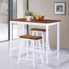 Vidaxl Stolik I Krzesła Barowe 3 Elementy Drewno