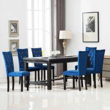 Vidaxl Krzesla Do Jadalni 6 Szt Aksamitne Granatowe Opinie I