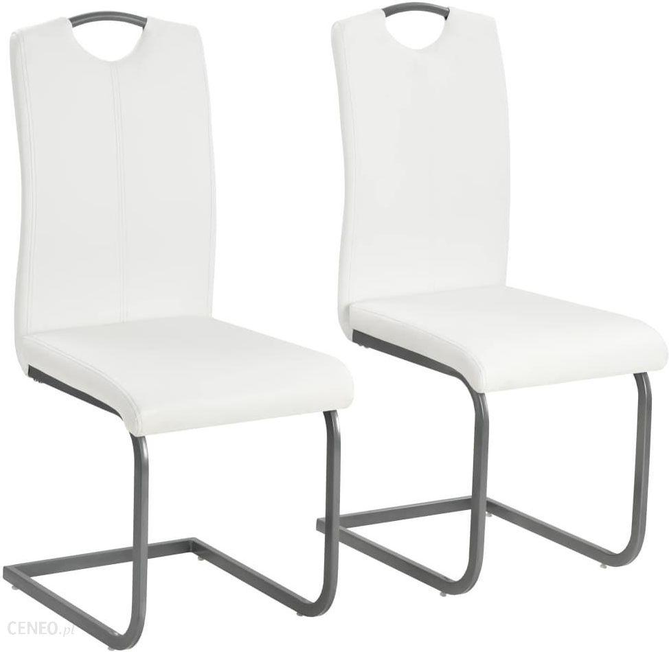 Vidaxl Krzesła Do Jadalni 2 Szt Sztuczna Skóra 43x55x100cm Białe