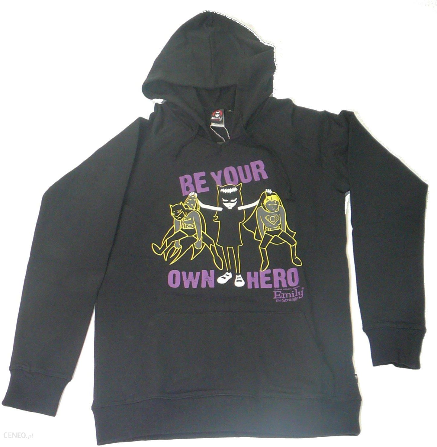 Bluza damska EMILY Be your own hero pullover hoodie Ceny i opinie Ceneo.pl