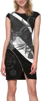 55f9a2f635 BE Sukienka swetrowa – dzianinowa asymetryczna midi czarna BK006 ...