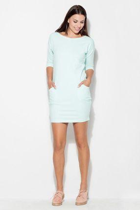 5118d3962d Rozkloszowana sukienka do kolan z długim rękawem szara T146 - Ceny i ...
