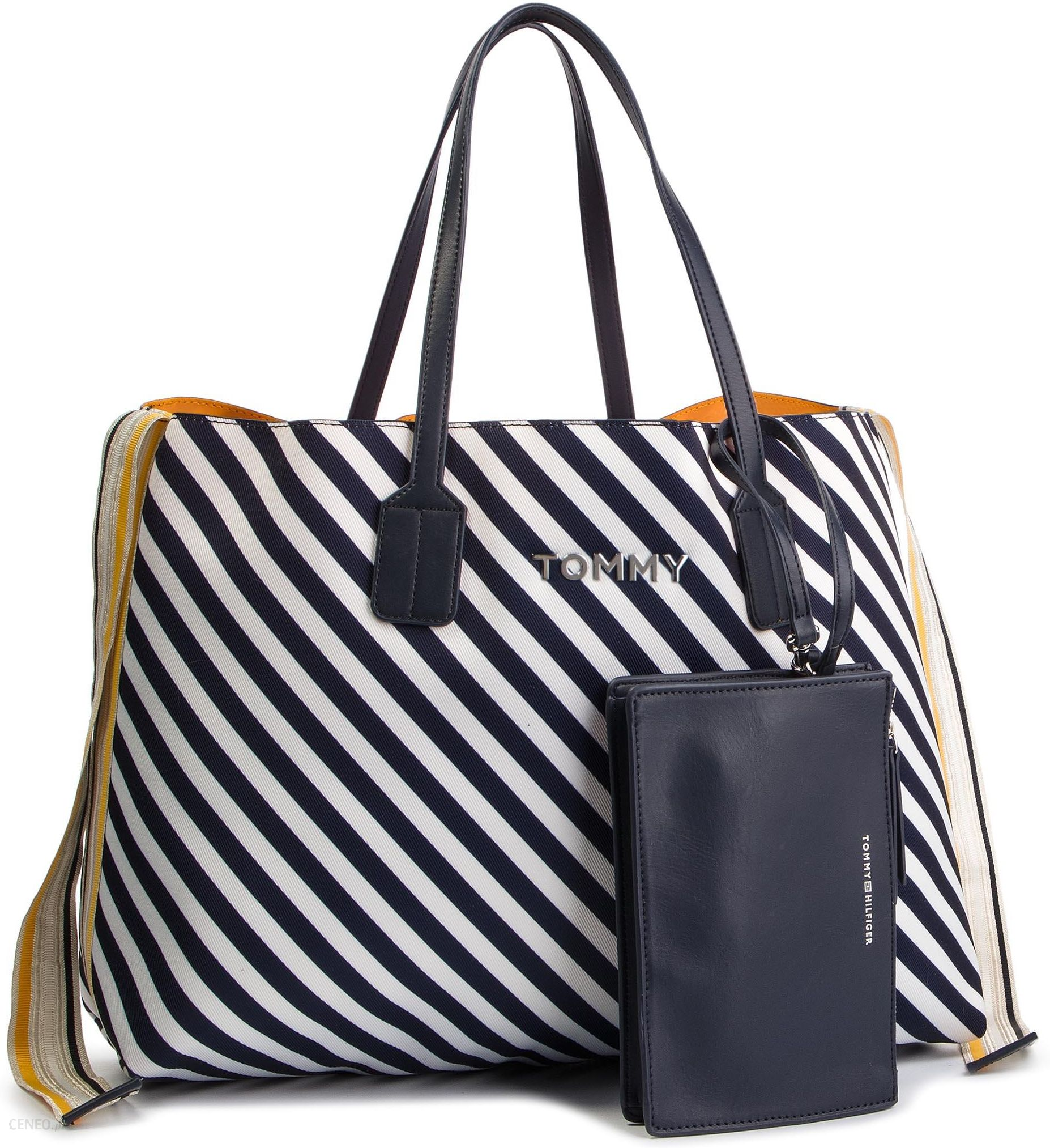 ab188ce5b9cc8 Torebka TOMMY HILFIGER - Cool Tommy Tote AW0AW06269 902 - Ceny i ...