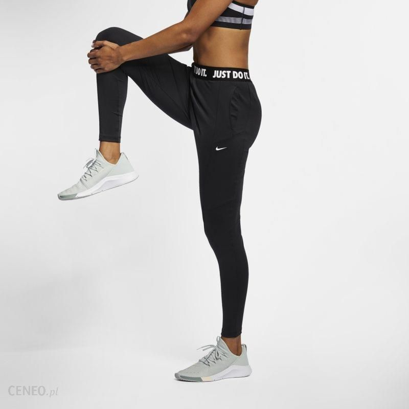 bc1f30b9093c3d Damskie spodnie treningowe Nike Power - Czerń - Ceny i opinie - Ceneo.pl
