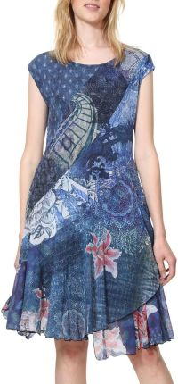 8f62356dcb Desigual kolorowa sukienka Vest Osages - S