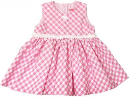 50f0a7ee93 Sukienka wizytowa dla dziewczynki różowa kratka   rozmiar ubranek - 80