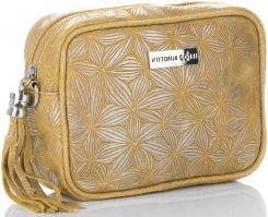 440239b84be43 Firmowe Torebki Skórzane Modne Listonoszki Vittoria Gotti Made in Italy  Żółte (kolory) ...