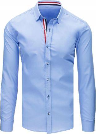 626f75218 Podobne produkty do Bawełniana koszula męska biała SLIM FIT. ELEGANCKA  BŁĘKITNA KOSZULA MĘSKA dx1689 - M Allegro