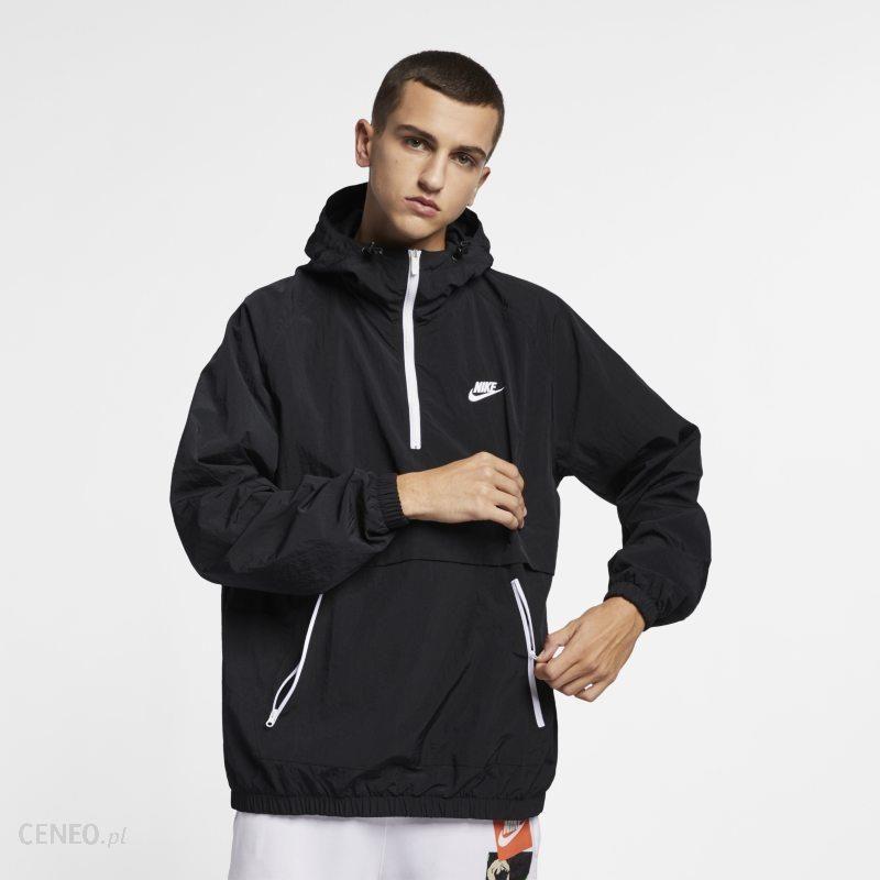Męska kurtka typu anorak z kapturem z tkaniny Nike Sportswear Czerń Ceny i opinie Ceneo.pl